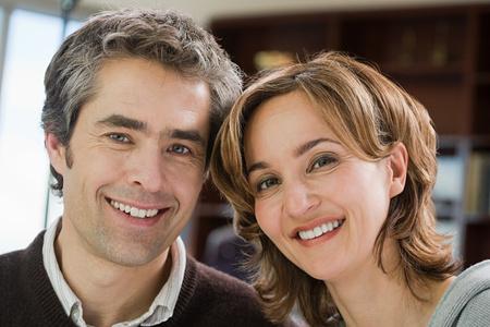 two couples: Portrait of a mature couple