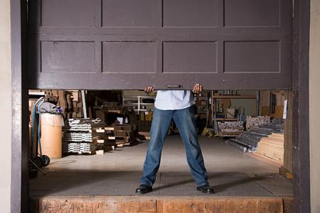 Opening warehouse door
