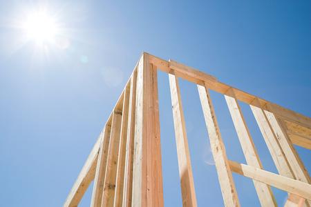 framework: Framework of a house Stock Photo
