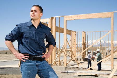 work worker: Portrait of a builder