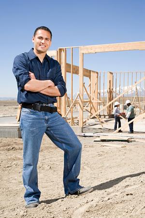 building industry: Portrait of a builder