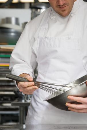whisking: Chef whisking
