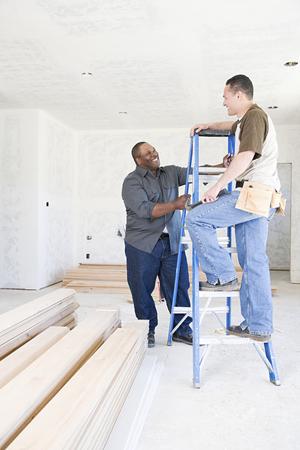 pacific islander ethnicity: Two builders talking