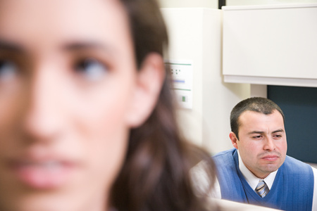 displeased: Displeased office workers Stock Photo