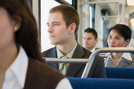 korean ethnicity: Commuters on light rail