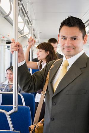 commuting: Businessman commuting