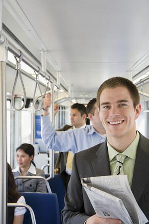 commuting: Young man commuting
