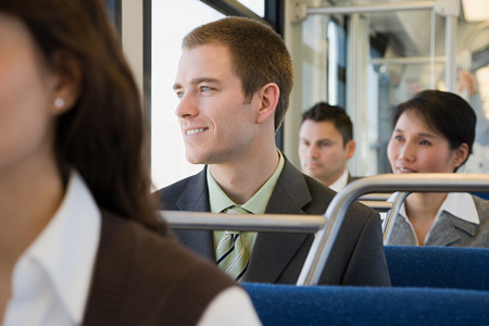 korean ethnicity: Commuters on train