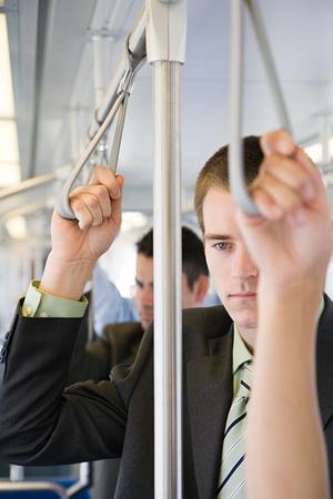 mundane: Man commuting