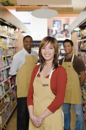 employee satisfaction: Portrait of sales assistant