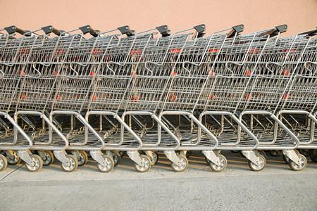 horizontal lines: carritos de la compra en una fila