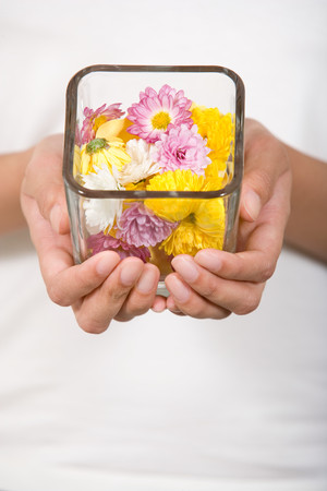 Bowl of flowers Stock fotó