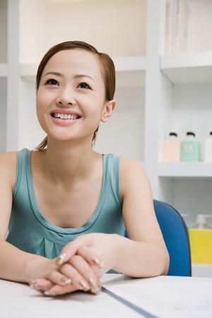 female office worker: Female office worker Stock Photo