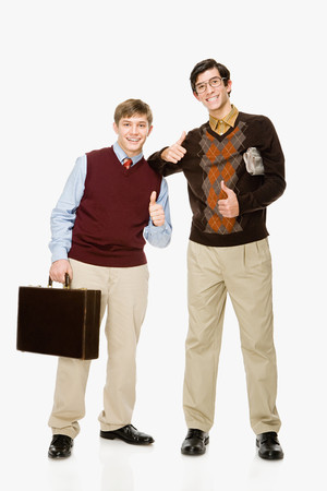 preppy: Geeks Stock Photo