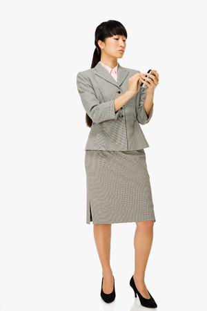 handheld computer: Businesswoman