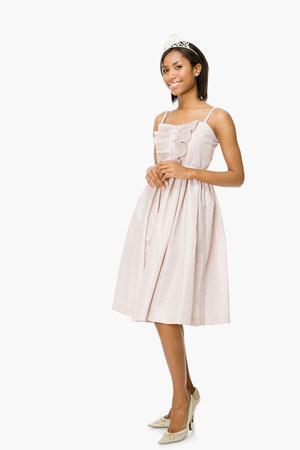 prom dress: Young woman in prom dress