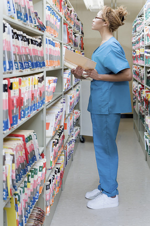 hospital: Hospital orderly in archives