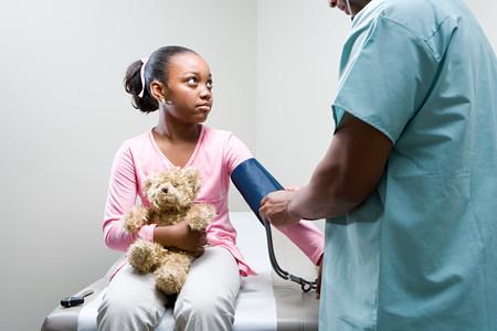 Girl having a check up