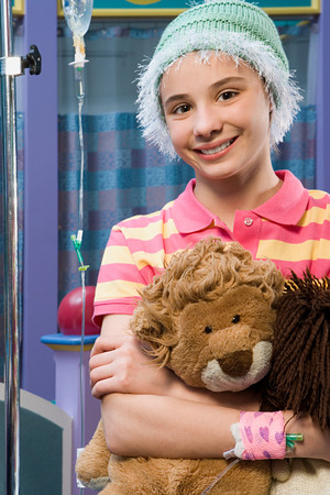 niños enfermos: Chica en el hospital