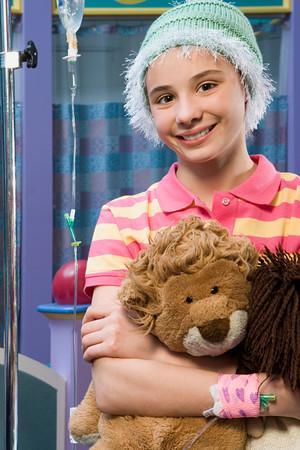 Meisje in het ziekenhuis Stockfoto