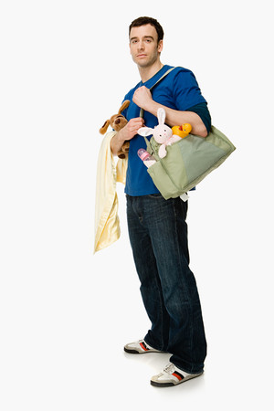 reversal: Man with baby supplies