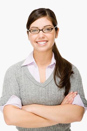 mulher: menina geeky Imagens