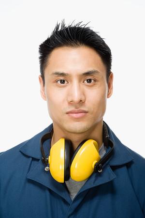 men face: Portrait of a workman