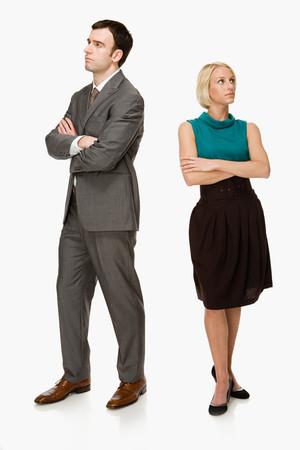 pareja discutiendo: Pareja ignorarse mutuamente