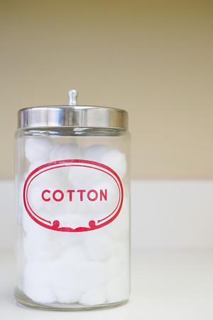 cotton wool: Jar of cotton wool