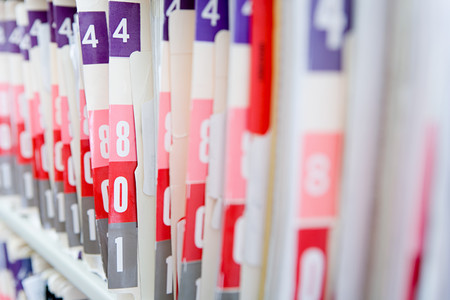 medical people: Hospital files Stock Photo