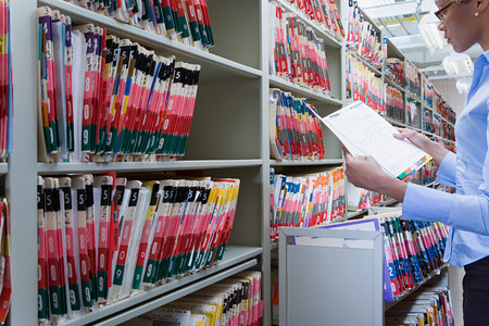Hospital administrator in archives
