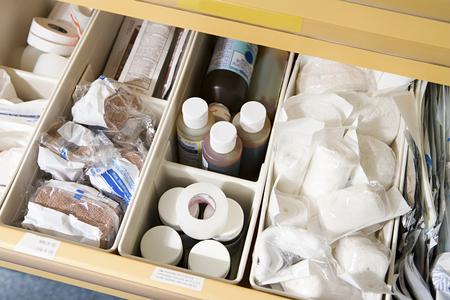 Drawer of medical supplies 写真素材