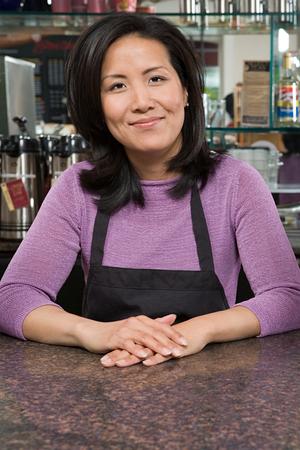 korean ethnicity: Waiter Stock Photo