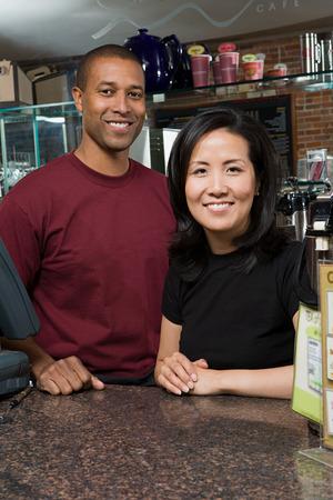 korean ethnicity: Two waiters
