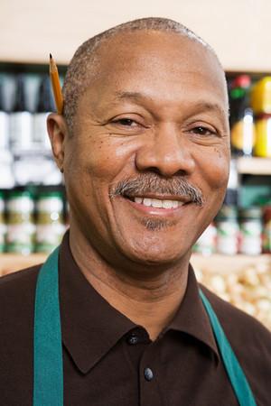 greengrocer: Portrait of a greengrocer