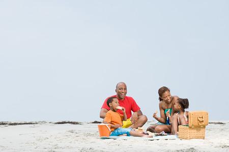 Family picnic Banque d'images