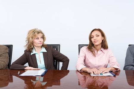 envious: Envious businesswoman Stock Photo