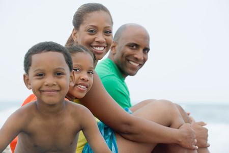 家族の肖像画 写真素材