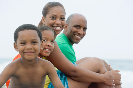 Familjeporträtt Stockfoto