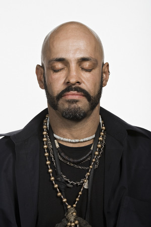 nonconformity: Portrait of mature adult Caucasian man