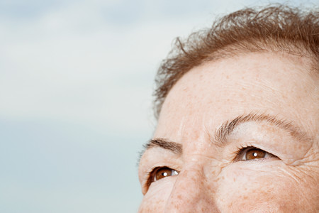 female senior adults: Detail of senior womans face