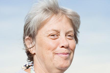 smirking: Woman smirking