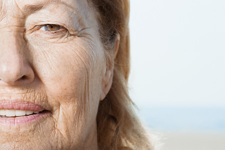 female portrait: Senior womans face Stock Photo