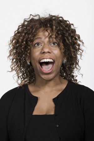 mid adult: Portrait of mid adult African American woman Stock Photo