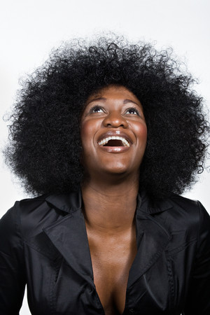 african american woman: Portrait of mid adult African American woman Stock Photo