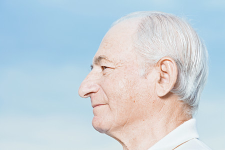Profile of a senior man Stock Photo