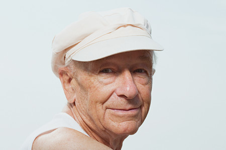 Senior man wearing a cap