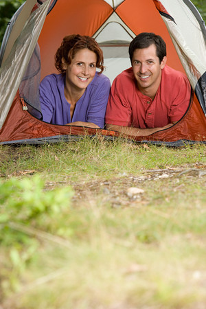 human source: Couple in a tent