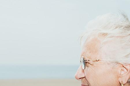 profile: Profile of a senior woman