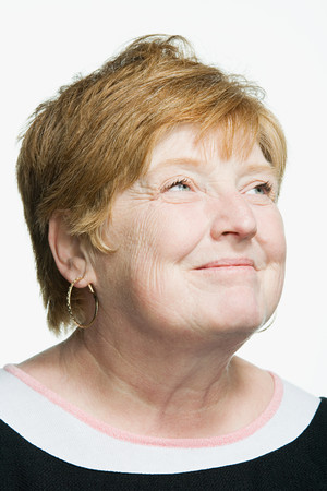 aging american: Portrait of mature adult woman
